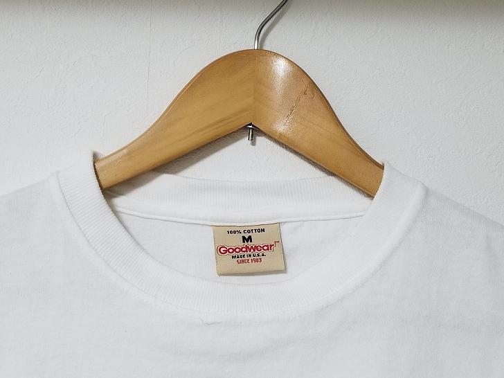 Goodwear(グッドウェア)半袖TシャツMサイズのタグ
