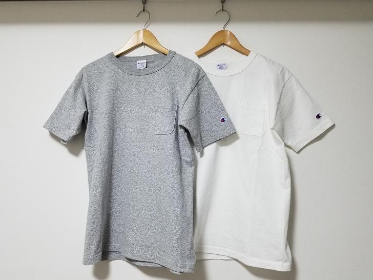 ChampionのT1011の2枚のTシャツ