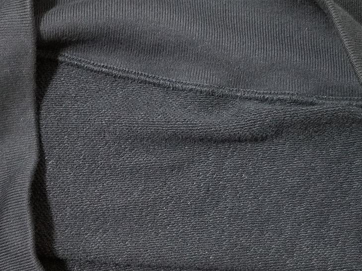 ユニクロのスウェットシャツの内側