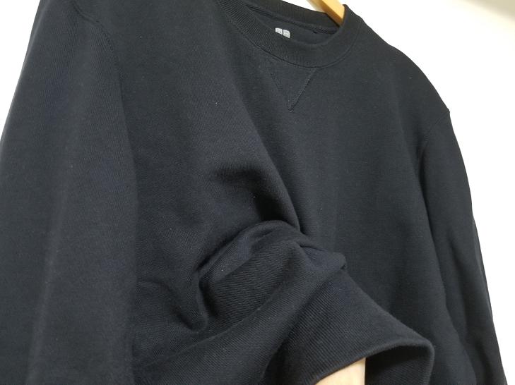ユニクロのスウェットシャツ