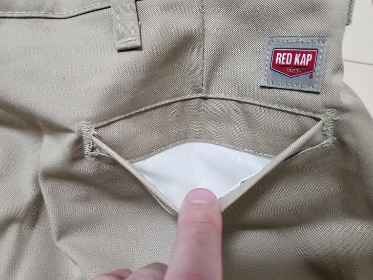 レッドキャップPT20の後ろポケット